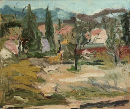 Fotograf: Eget fotoVærk  titel: Mit Provence Værk  type: Maleri Materiale: Olie på lærred Størrelse: 50x60 cm. Færdiggjort: 1991 Placering: Århus Kommune