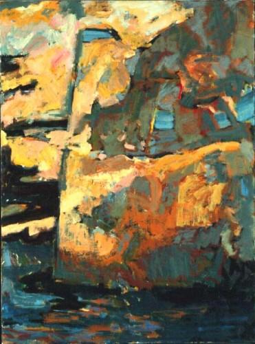 Fotograf: Poul PedersenVærk  titel: Cubansk fragment Værk  type: Maleri Materiale: Olie på lærred Størrelse: 90x70 cm Færdiggjort: 1992 Placering: Luxembourg