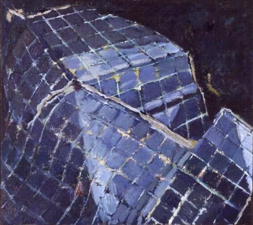 Fotograf: Rolf LinderVærk  titel: Glashuset Værk  type: Maleri Materiale: Olie på lærred Størrelse: 70x80 cm. Færdiggjort: 1992