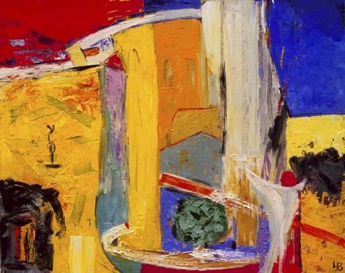Fotograf: Eget fotoVærk  titel: Landskab I Værk  type: Maleri Materiale: Olie på lærred Størrelse: 65,5 x 80 cm Færdiggjort: 2001