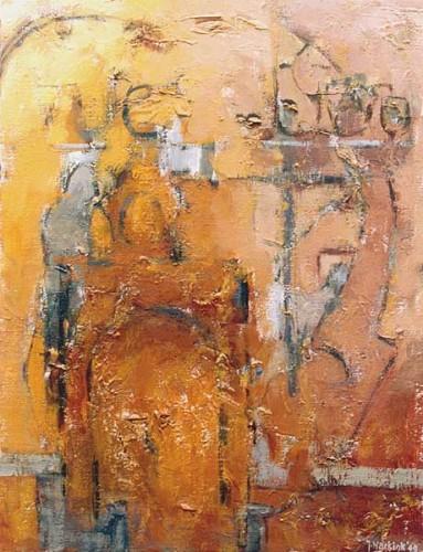Fotograf: Eget fotoVærk  titel: Port i Siena Værk  type: Maleri Materiale: Olie på lærred Størrelse: 56 x 43 cm Færdiggjort: 1999