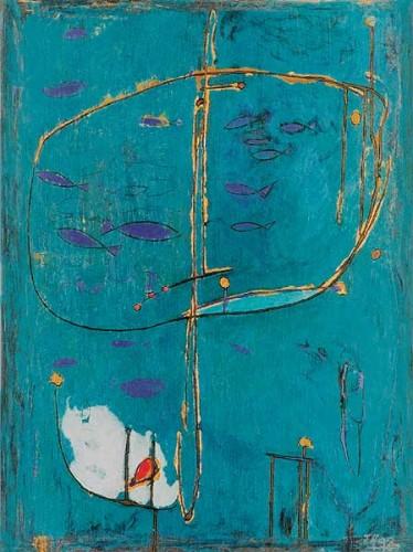 Fotograf: Eget fotoVærk  titel: Glimt af en lagune Værk  type: Maleri Materiale: Acryl på masonit Størrelse: 80 x 60 cm Færdiggjort: 1998