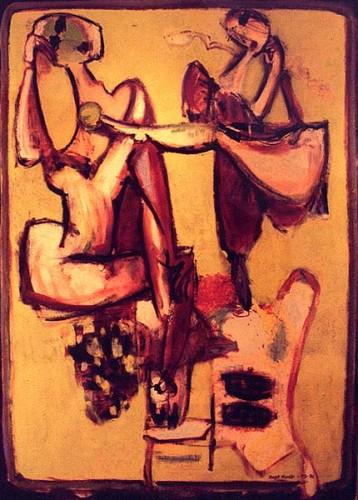 Fotograf: Eget fotoVærk  titel: Balanceakt Værk  type: Maleri Materiale: Olie på lærred Størrelse: 135x96 cm. Færdiggjort: 1996