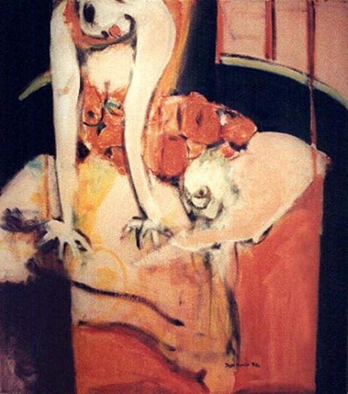Fotograf: Eget fotoVærk  titel: Nature Morte aux Oranges Værk  type: Maleri Materiale: Olie på lærred Størrelse: 83x95 cm.