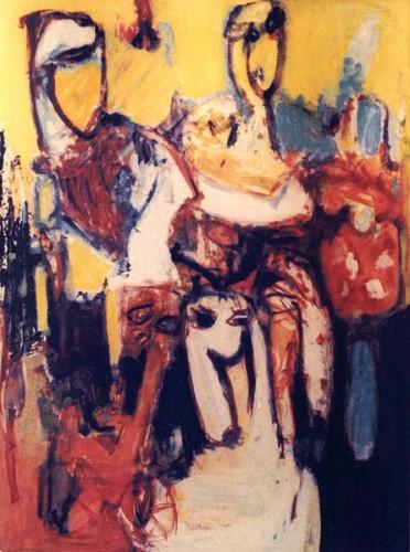 Fotograf: Eget fotoVærk  titel: Fra min legetøjsskuffe Værk  type: Maleri Materiale: Olie på lærred Størrelse: 135x96 cm. Færdiggjort: 1996