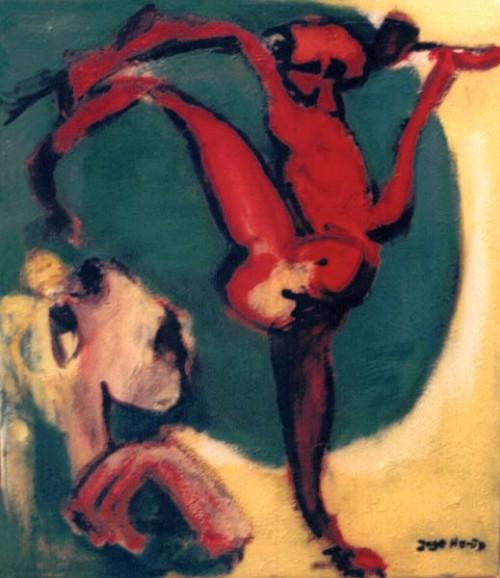 Fotograf: Eget fotoVærk  titel: Klassisk scene med tilskure Værk  type: Maleri Materiale: Olie på lærred Størrelse: 60x50 cm. Færdiggjort: 1996