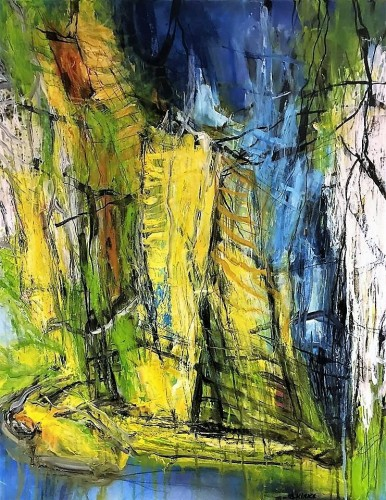 Abstract landscape 90 x 70 cm