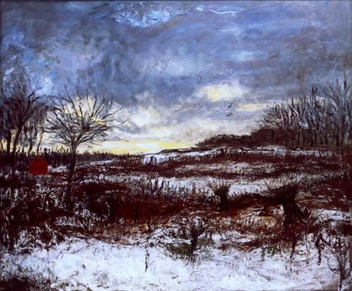 Fotograf: Wermund BendtsenVærk  titel: Vinter lys Værk  type: maleri Materiale: olie på lærred Størrelse: 105x90 Færdiggjort: 1997 Placering: privat