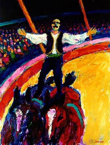 Fotograf: Leif MosevangVærk  titel: Ungarsk post Værk  type: Maleri Materiale: Olie på lærred Størrelse: 130x100 cm Færdiggjort: 1993