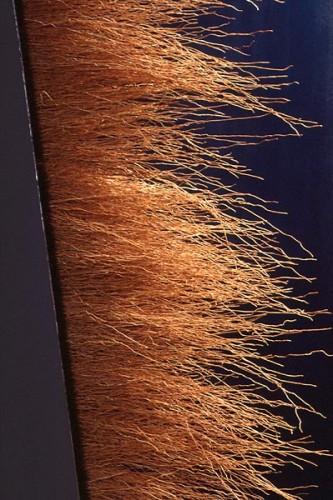 Fotograf: Jens BullVærk  titel: Transformation - detalje Værk  type: Mixed media Materiale: Jern og koste Størrelse: 140 x 100 cm