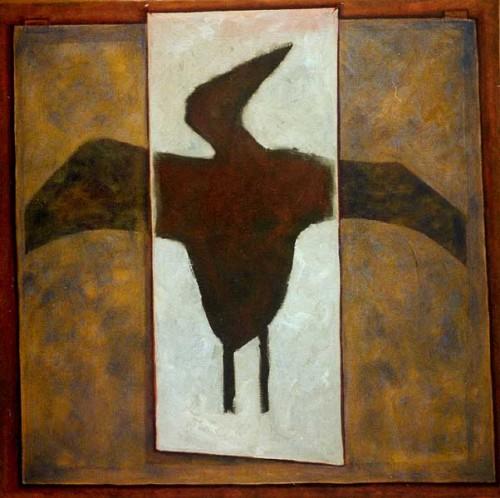 Fotograf: Eget fotoVærk  titel: Levende eller døde Værk  type: Maleri Materiale: Olie på lærred Størrelse: 90 x 90 cm Færdiggjort: 2000