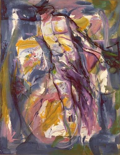 Fotograf: Lars KarlenVærk  titel: Hyldest til Vincent van Gogh Værk  type: Maleri Materiale: Olie/acryl på lærred Størrelse: 93x122 cm Færdiggjort: 1986