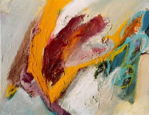 Fotograf: Eget fotoVærk  titel: På vej igen Værk  type: Maleri Materiale: Olie på lærred Størrelse: 30 x 38 cm Færdiggjort: 2000