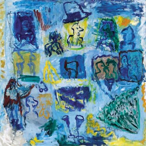 Fotograf: Michael DamsgårdVærk  titel: Latin Fantasy Værk  type: Maleri Materiale: Gouache og olie på lærred Størrelse: 90 x 90 cm