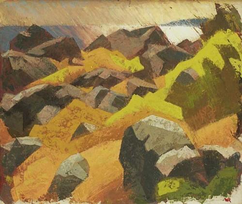 Fotograf: Eget fotoVærk  titel: Morgensol - Kullen Værk  type: Maleri Materiale: Olie på lærred Størrelse: 100 x 85 cm