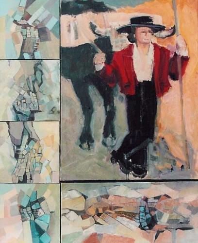 Fotograf: Eget fotoVærk  titel: The spirit of Malaga Værk  type: Maleri Materiale: Olie på lærred Størrelse: 125 x 100 cm