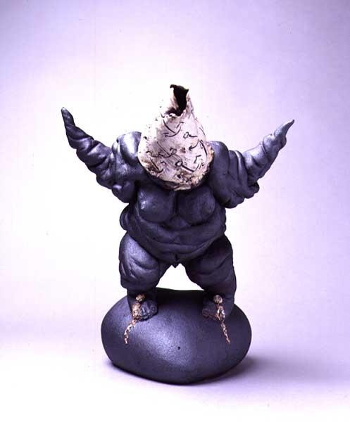Fotograf: Eget fotoVærk  titel: Sukhjerte - Den store kærlighed Værk  type: Skulptur Materiale: Stentøj/porcelæn Størrelse: 27 x 29 x 15 cm Færdiggjort: 2000