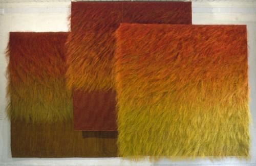 Fotograf: Zbigniew WojcikVærk  titel: Steppe Værk  type: Billedvævning Materiale: Sisal og kunstfibre Størrelse: 275 x 400 x 50 cm Færdiggjort: 1993