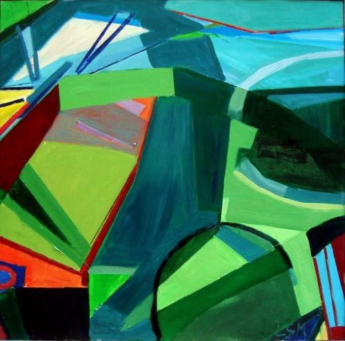 70 x 70 Komposition ud i det blå