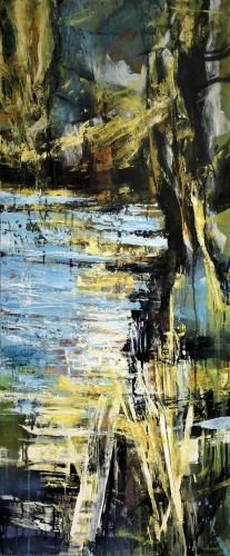 Abstract landscape 120 x 50 cm