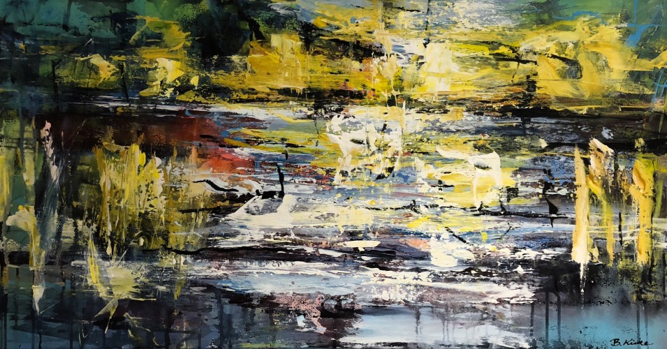 Abstract landscape 50 x 100 cm (sold)