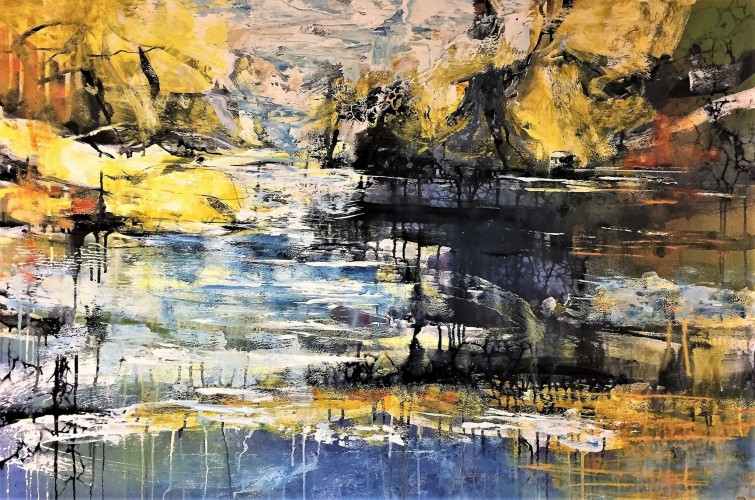 Abstract landscape 80 x 120 cm (sold)