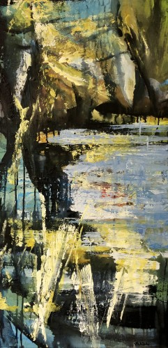 Abstract landscape 100 x 50 cm