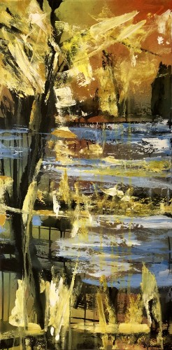 Abstract landscape 100 x 50 cm.