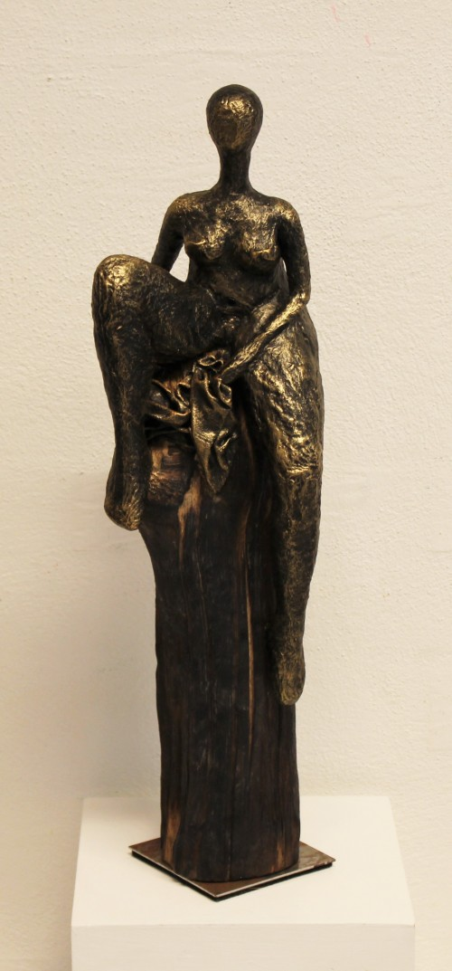 The inspiration for my sculptures comes from an old Faroese legend of the seal woman. More info: www.birgitkirke.dk My sculptures are between 30 and 55 cm high.