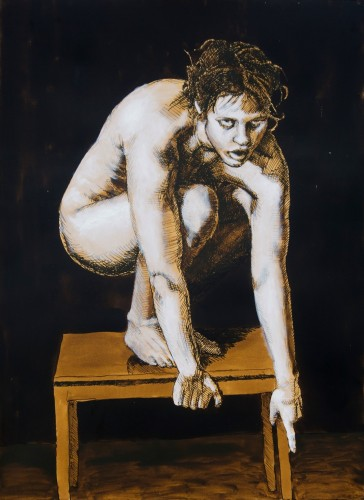 Tegning 04 tusch 56x77 cm Jan Esmann 2015